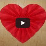 Výrobky z papíru - Srdce skládané