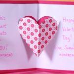 Valentýnské přání - vyskakovací srdce