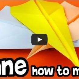 Skládanky z papíru - letadlo