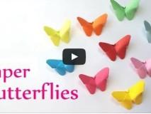 Skládanky z papíru - motýlek
