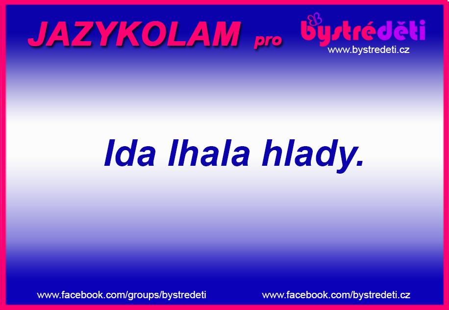 JAZYKOLAMY_Ida lhala hlady