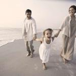 Rodina na pláži