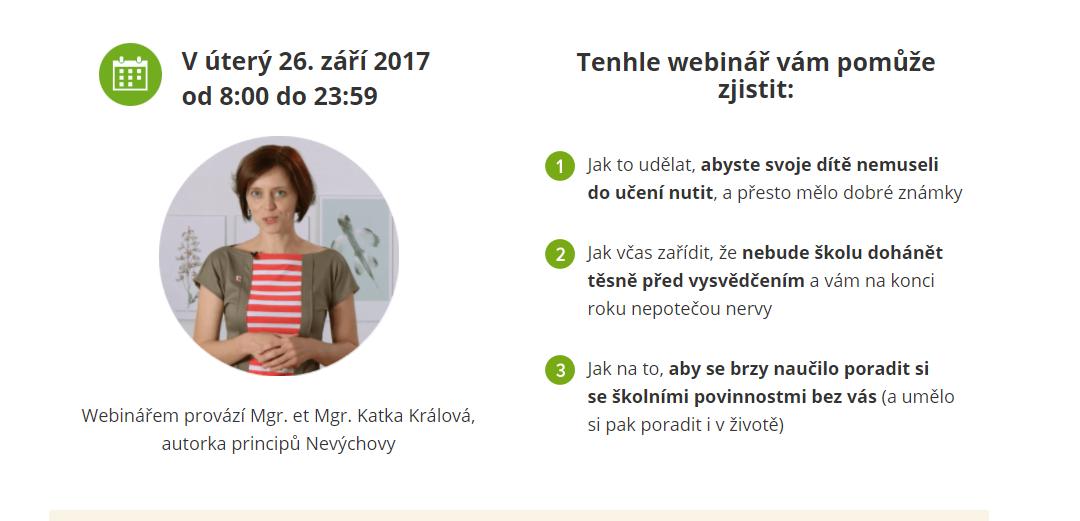 Webinář info