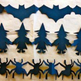 Helloween papírový řetěz