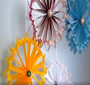 Vánoční kytičky z papíru