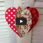 Výrobky zpapíru - Srdce jednoduché prostorové