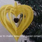 Výrobky zpapíru - Srdce prostorové zproužků skorálkem