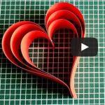 Výrobky zpapíru - Srdce zproužků