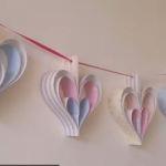 Výrobky zpapíru - Srdcová girlanda