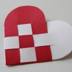 Valentýnské přání - čtverečkované srdce