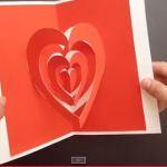 Valentýnské přání - vyskakovací srdíčka