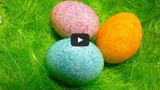 Vajíčka zdobená rýží sbarvou